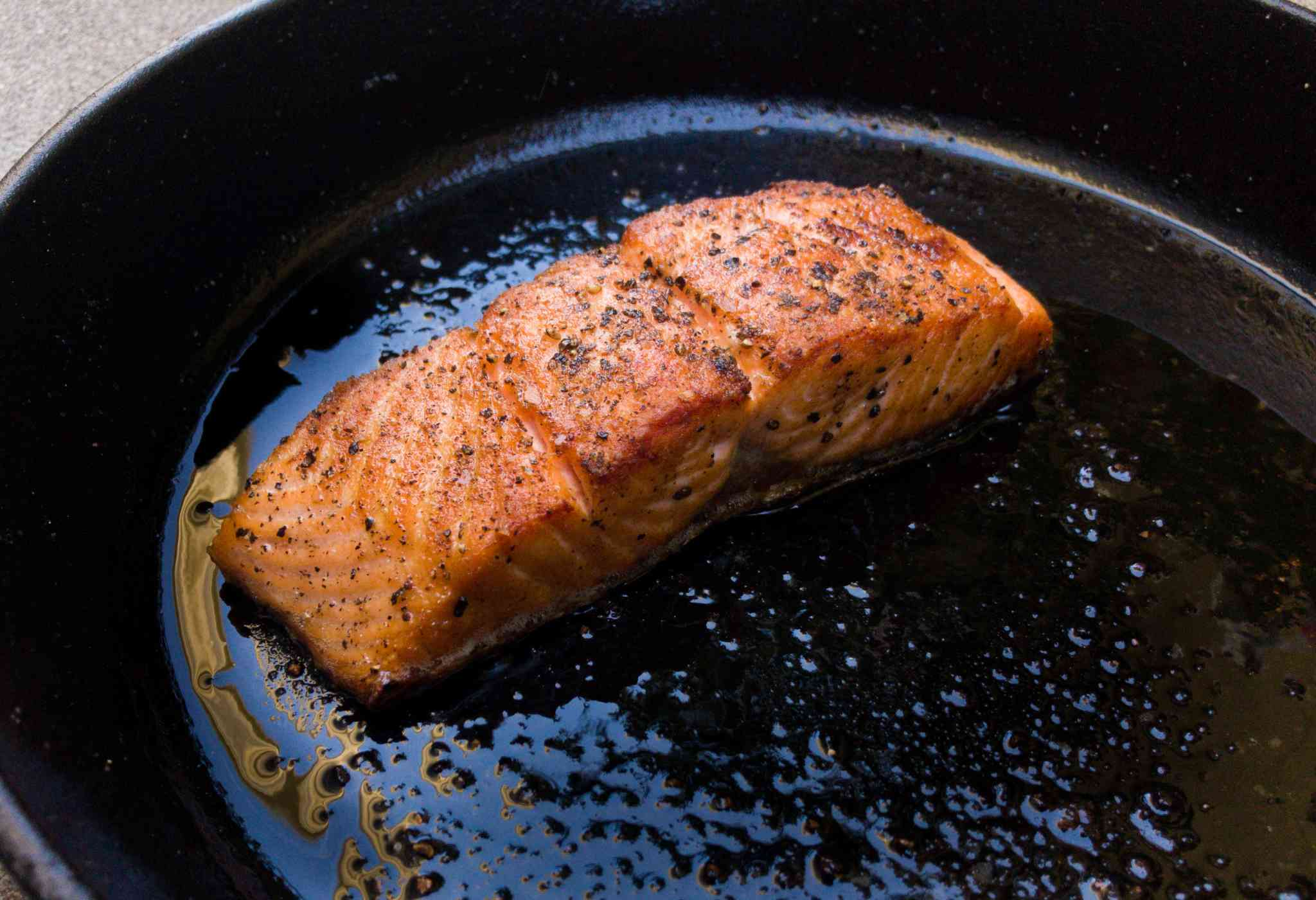 Salmon Cooked Top